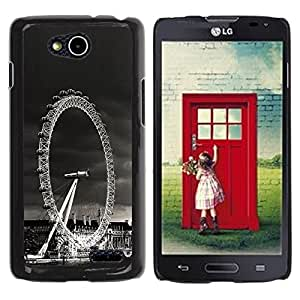 LECELL -- Funda protectora / Cubierta / Piel For LG OPTIMUS L90 / D415 -- Architecture London Viewing Wheel --