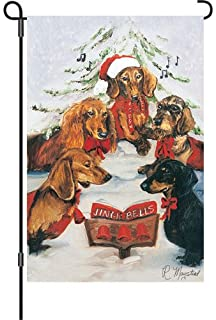 Good Premier Kites 51707 Garden Brilliance Flag, Dachshund Choir, 12 By 18 Inch
