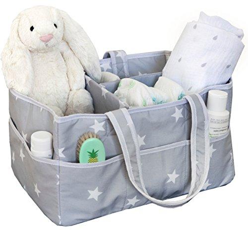 Large Diaper Caddy Organizer, Fits All Diaper Sizes, Nursery Storage Bin, Nursery Diaper and Wipes Organizer