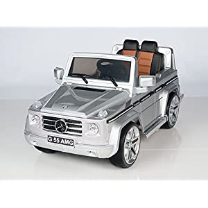 2015-Licensed-Mercedes-Benz-G55-AMG-SUV-12v-Ride-on-Electric-Toy-Car-with-Remote-Control-for-Kids-Silver-Gift-Mp3-Player