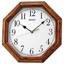 Seiko Wooden Wall clock QXA529B Brand New