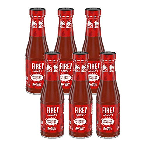 Taco Bell Fire Sauce 7.5-Ounce Bottle (Pack of 6)