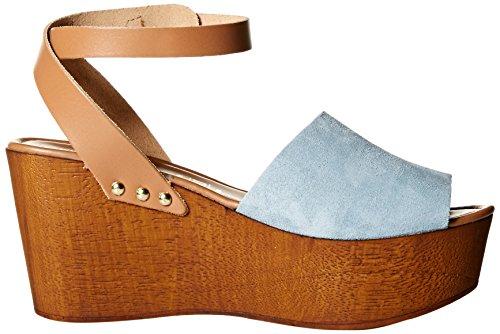 Blue 5 Light Women's 8 Sandal White Wedge Forward Seychelles 0x8wz4qY7