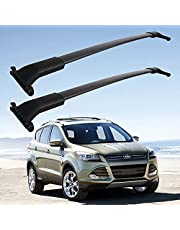 Roof Rack Crossbars Fit for Ford Escape 2013-2019 with Side Rails Aluminum Luggage Crossbars for Rooftop Cargo Carrier Kayak Bike Snowboard skis Fishing Poles,Max Load 165LBS