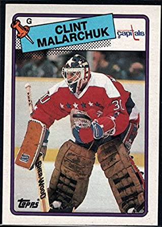 Amazon Com Hockey Nhl 1988 89 Topps 25 Clint Malarchuk Capitals