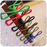 Yueton Pack of 30 Multi-Purpose Clothesline Utility Clips, Steel Wire Clips by Blovess