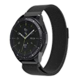 NotoCity 20mm Watch Band for Samsung Gear S2 Classic/Gear Sport Watch,Samsung Galaxy Watch (42mm),Pebble time Round,vivoactive 3,Huawei 2 Watch,TICHWATCH 2,Tic watchE Replacement Strap- 20mm Black