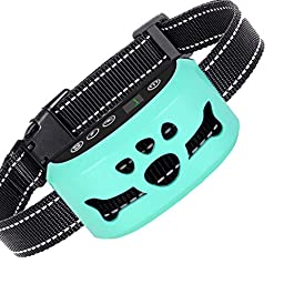 AHJDL Dog Bark Collar – Stop Dogs Barking Fast! Safe Anti Barking Devices Training Control Collars, Small, Medium and Large Pets Deterrent