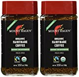 Mount Hagen Organic Coffee -Cafe Decaffeinated 3.53 oz (Pack of 2)