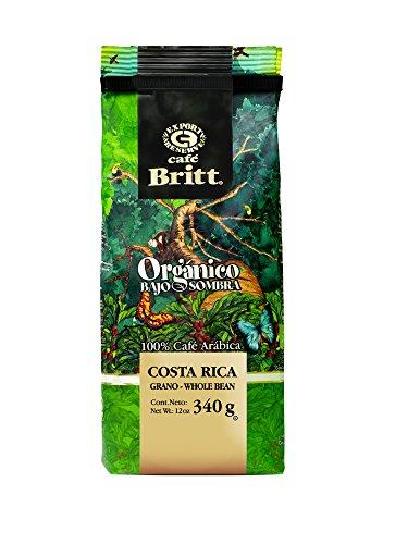Cafe Britt Costa Rican 100% USDA organic certified, Whole bean coffee, 12 oz Kosher certified