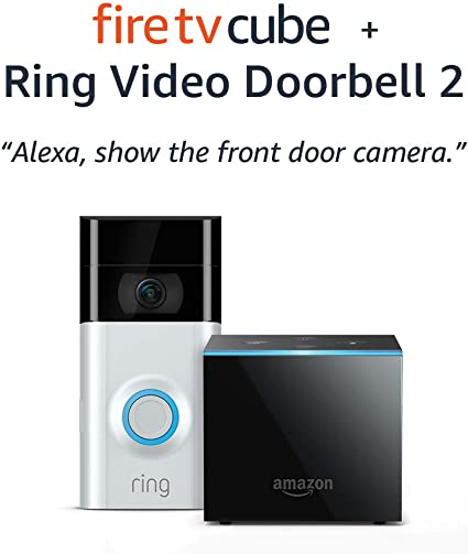 Amazon Fire TV Cube (2nd Gen) bundle with Ring Video ...