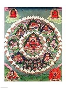 El paraíso de Shambhala la bandera tibetana Artistica di Stampa (45,72 x 60,96 cm)