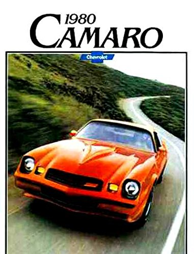 BEAUTIFUL 1980 GM CHEVROLET DIVISIONS CAMARO DEALERSHIP SALES BROCHURE - ADVERTISMENT Includes Sport Coupe, Berlinetta, Z28 & RS Rally Sport - CHEVY 80 Chevrolet Camaro Sales Brochure