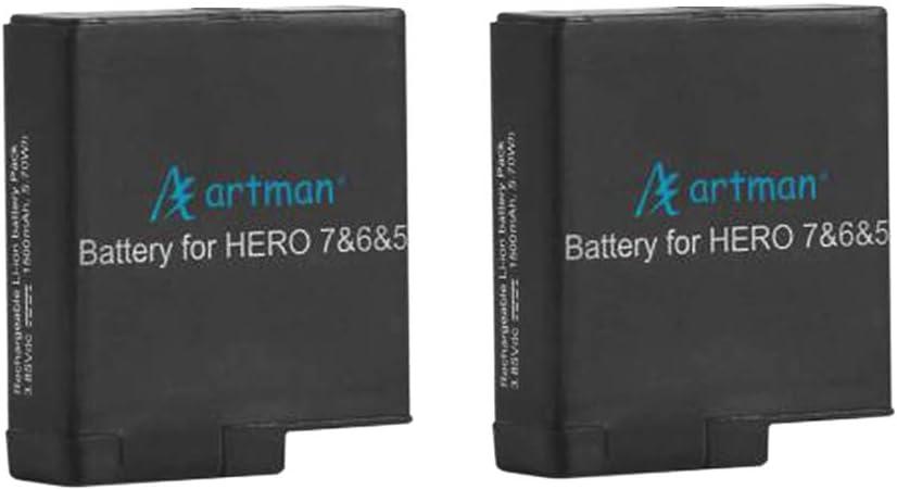 Hero 6 Black Hero 5 Black,Hero 2018 Artman 2-Pack Batteries Fully Compatible with Hero 7 Black