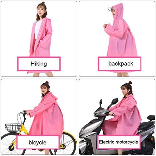 Motocicleta Bicicleta Eva Reutilizable Joven Pink Poncho La Senderismo Impermeable De Multiusos Anaisy Xw6Hqq