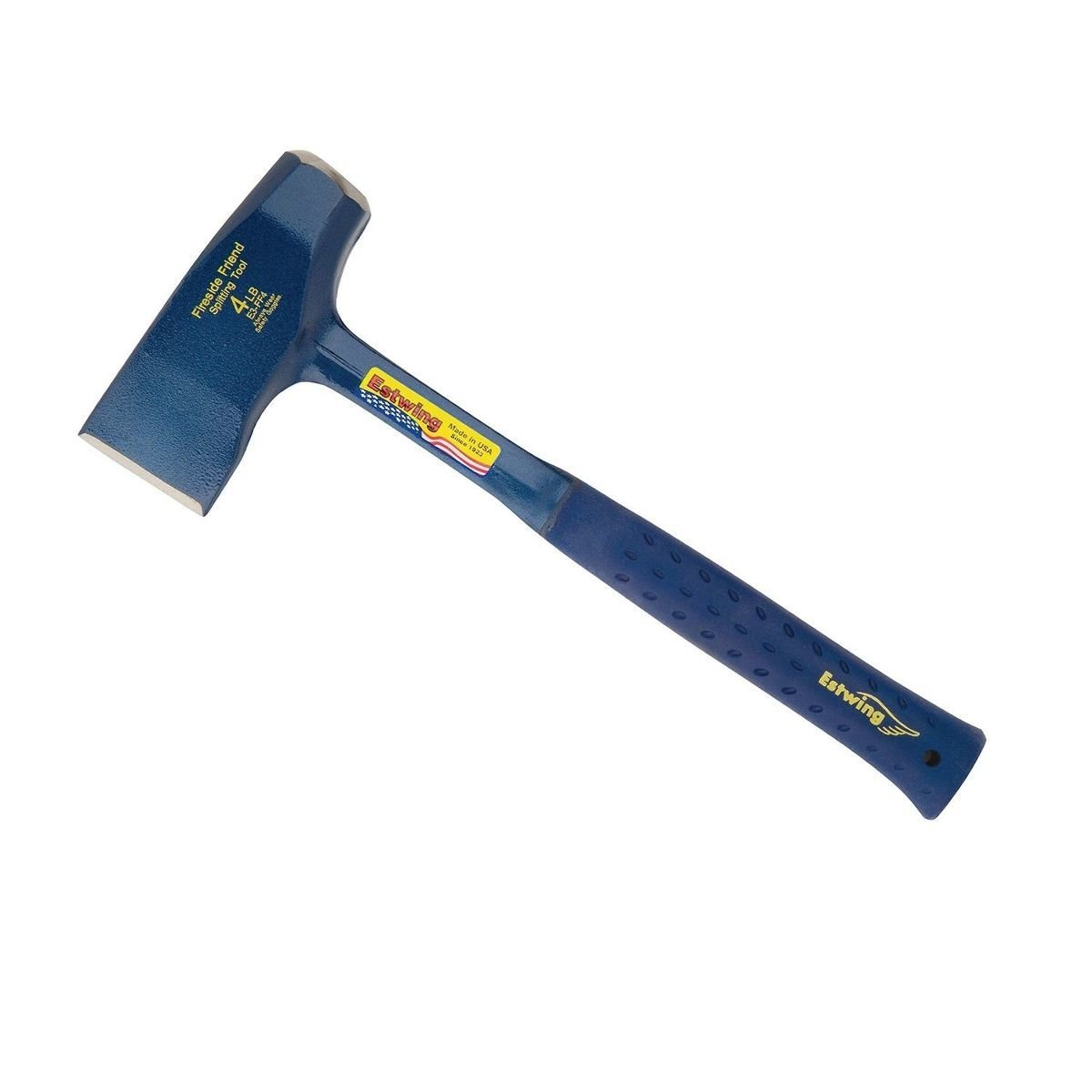 Estwing Fireside Friend Axe - 14'' Wood Splitting Maul with Forged Steel Construction & Shock Reduction Grip - E3-FF4