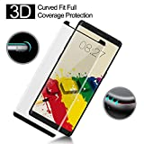 Galaxy Note 8 Screen Protector Tempered Glass Full Coverage 3D Curved Crystal Case Friendly Bubble-Free Anti-Scratch for Samsung Galaxy Note 8 Black