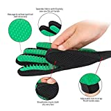 Paul's Pets Premium Version Green Grooming Glove - Soft & Gentle Deshedding Brush Glove - Efficient Pet Fur Remover Mitt - Enhanced Glove Design - Works Best for Dogs & Cats with Long & Short Fur