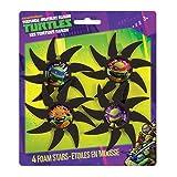 Teenage Mutant Ninja Turtles Foam Throwing Stars Party Favors, 4ct