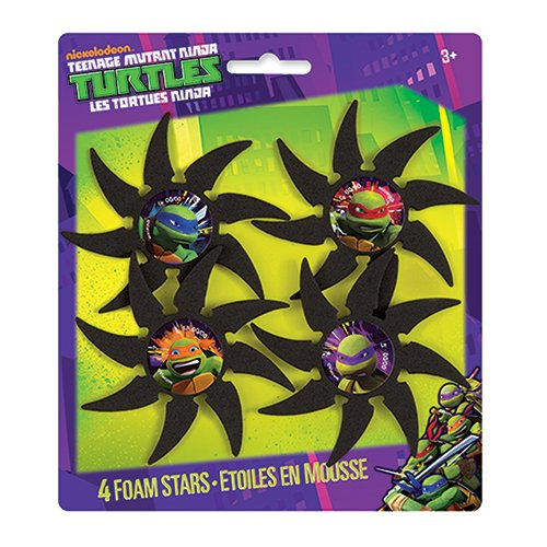 Nickelodeon Foam Teenage Mutant Ninja Turtles Throwing Star Party Favors, 4ct