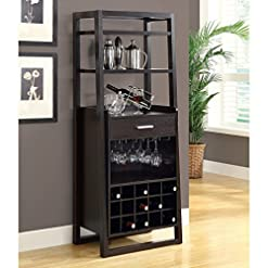 Home Bar Cabinetry Monarch Specialties , Home Bar, Ladder Style, Cappuccino, 60″H home bar cabinetry