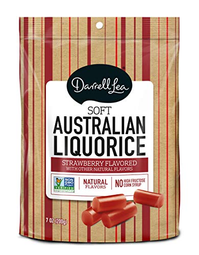 - Soft Australian Strawberry Licorice - Darrell Lea 7oz Bag - NON-GMO, NO HFCS, Vegetarian & Kosher | America's #1 Soft Eating Licorice Brand!