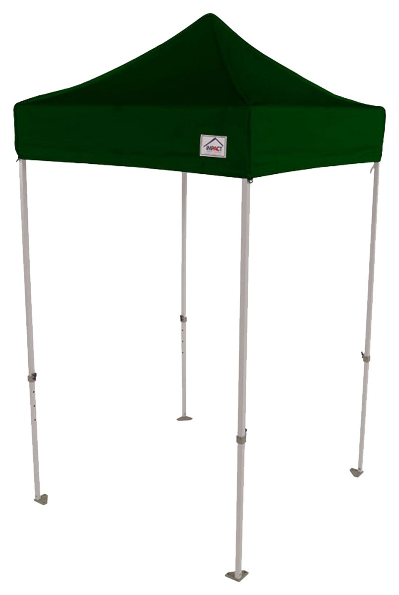 Impact 5 x 5 Pop Up Canopy Tent, Lightweight Powder Coated Steel Frame, Includes Storage Bag, Forest Green