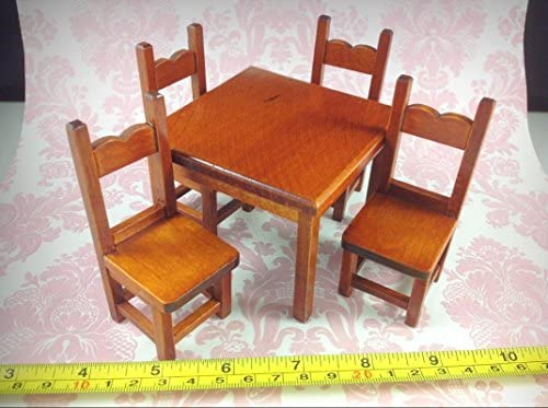Wondrous Amazon Com Dollhouse Miniature Kitchen Furniture Mahogany Inzonedesignstudio Interior Chair Design Inzonedesignstudiocom