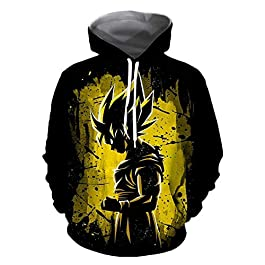 CHENMA Men's Dragon Ball 3D Print Pullover Hoodie Sweatshirt With Front Pocket