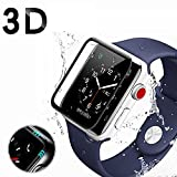 Sayingning Apple Watch Case, Full Screen Curved Edge Temperature Protection For Apple Watch Series 1/2/3 38/42 mm, All-Round Protection for Your Watch (Apple Watch Series 1/2/3 42 mm)