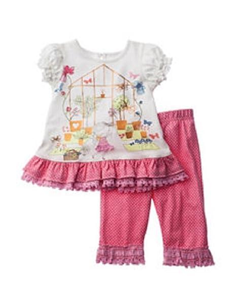 82cf29a60 Blueberi Boulevard - Set de 2 Piezas de Vestido y pantalón con Volantes con diseño  de Mariposas