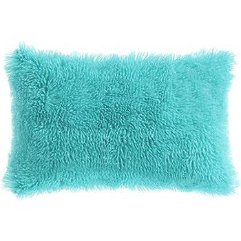 Amazon Com Piccocasa Faux Fur Throw Pillow Cover Fluff