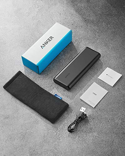 Anker PowerCore 20,100mAh Portable Charger Ultra High Capacity Power Bank with 4.8A Output and PowerIQ Technology, External Battery Pack for iPhone, iPad & Samsung Galaxy & More (Black)