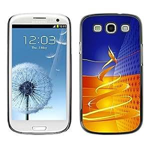 YOYO Slim PC / Aluminium Case Cover Armor Shell Portection //Christmas Holiday Gold Tree Swirl 1189 //Samsung Galaxy S3