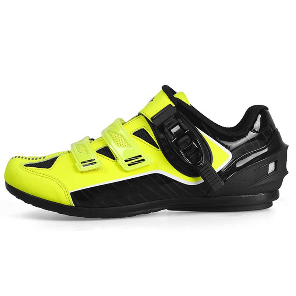 jaune2 42 EU snfgoij Chaussure Cycliste pour Homme Racing Route légère Route sans Cadenas