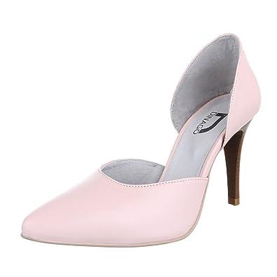 4e7672e537eb65 Ital-Design High Heel Leder Damen-Schuhe Pfennig- Stilettoabsatz High Heels  Pumps