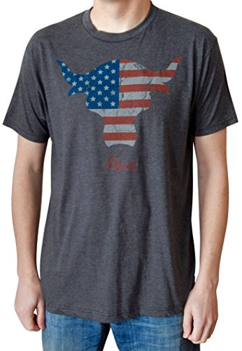 wwe-the-rock-american-flag-brahma-bull-mens-charcoal-heather-t-shirt-xl