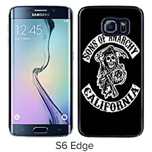 Newest Samsung Galaxy S6 Edge Case ,Sons Of Anarchy California TV Series Black Samsung Galaxy S6 Edge Screen Case Unique And Durable Custom Designed Cover Case