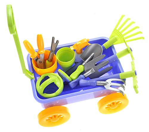 Ampersand shops kids garden wagon tools play set toys for Gardening tools 94 game