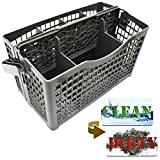 Dishwasher Silverware Replacement Basket Universal - Clean Dirty Magnet Sign - Utensil/Cutlery Holder - Fits Bosch, Maytag, Kenmore, Whirlpool, KitchenAid, LG, Samsung, Frigidaire, GE
