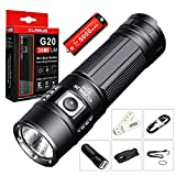 SKYBEN Klarus G20 3000 Lumens CREE Next Gen. XHP70 N4 LED USB Rechargeable Flashlight Dual-Switch...