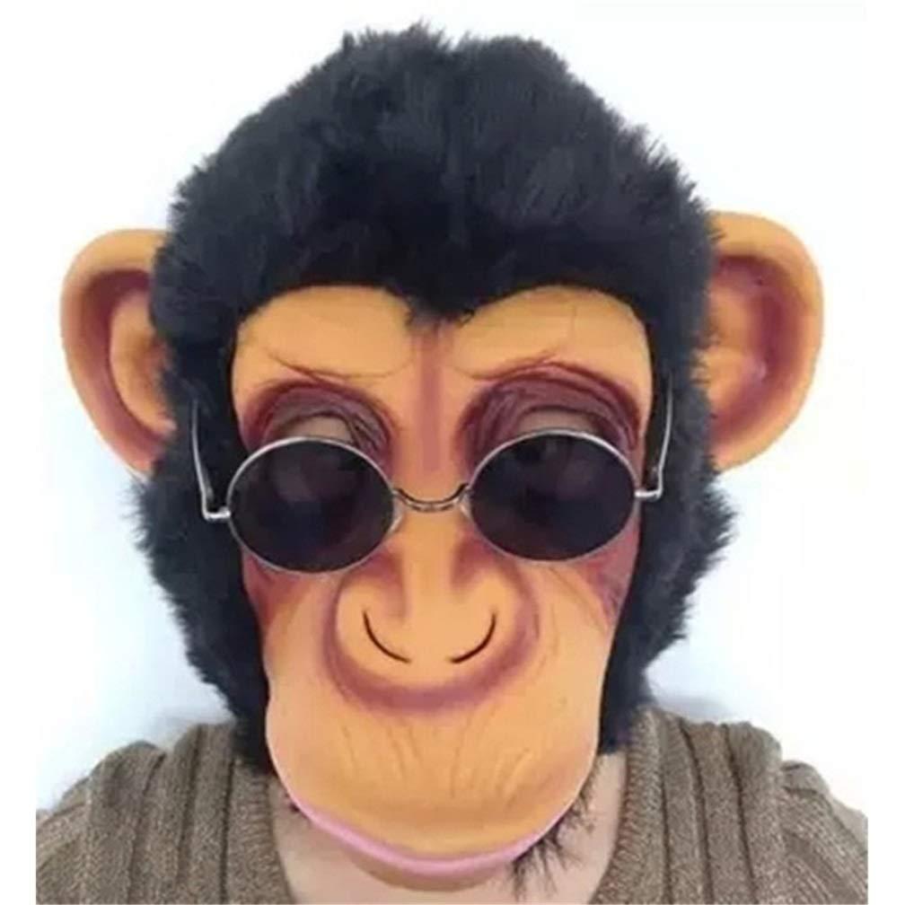 Novelty Halloween Costume Party Latex Animal Monkey Head Mask