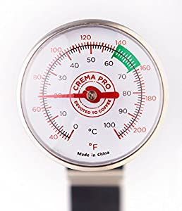 CREMA PRO Milk Thermometer - Make The Perfect Coffee or Espresso - Coffee Accessories - Easy & Quick Clean Up from Compact Designs International