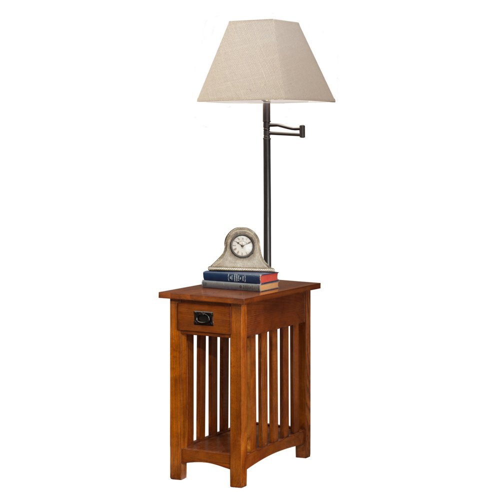 Amazon.com: Leick Mission Chairside Swing Arm Lamp Table: Kitchen U0026 Dining