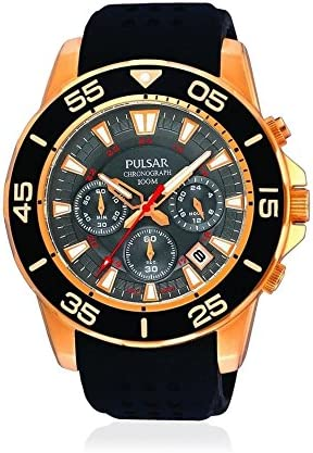 Pulsar Sports Mens Analog Quartz Watch with Rubber Bracelet PT3134X1