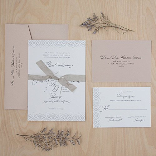 Amazon Com Wedding Invitations Blush Wedding Invitations Rustic