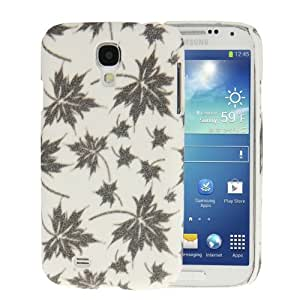 Crystal Frosted Maple Leaves Pattern Plastic Case for Samsung Galaxy S IV / i9500 (White)