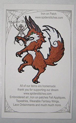 Epic Medieval Renascence Red Fox Crest Heraldic Heraldry Iron on Patch -