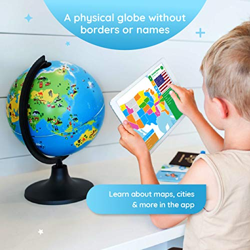 Shifu Orboot (App Based): The Educational, Augmented Reality Based Globe | STEM Toy for Boys & Girls Age 4 to 10 Years | Learning Toy Gift for Kids (No Borders and No Names on Globe) by Shifu (Image #2)