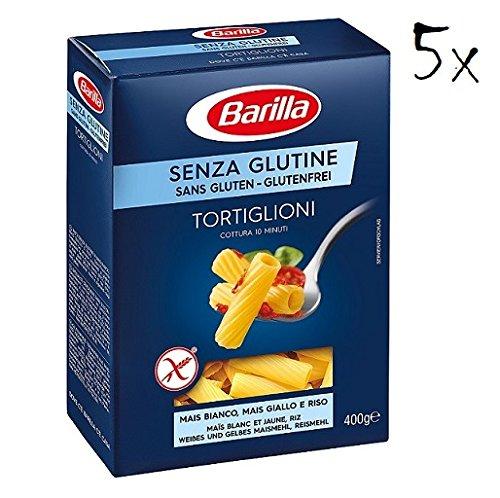 5x Barilla Tortiglioni Pasta 400g Gluten Free!